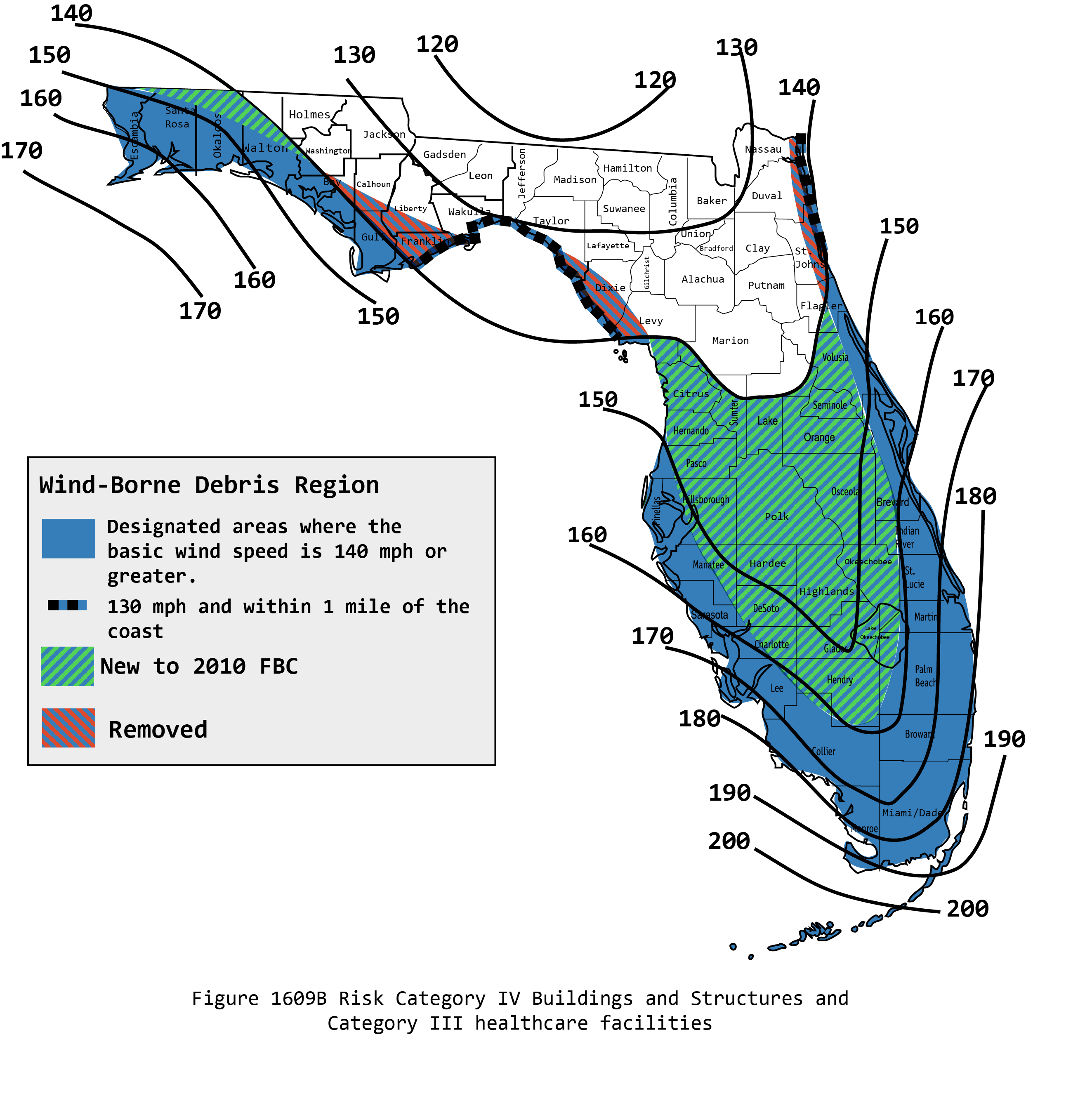 Hurricane Wind map